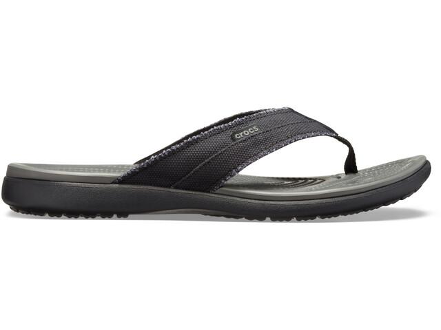 Crocs Santa Cruz sandaalit Miehet, black/slate grey